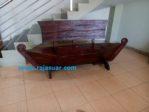 Bangku Perahu Jati Minimalis Moderen Antik