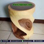 Stool Bulat Kayu Trembesi